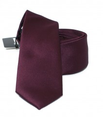 NM slim szatén nyakkendő - Burgundi