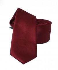 NM slim szatén nyakkendő - Bordó