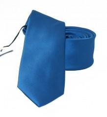 NM slim szatén nyakkendő - Középkék Egyszínű nyakkendő