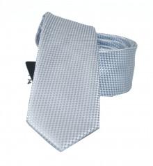 NM slim szatén nyakkendő - Ezüst szövött Egyszínű nyakkendő