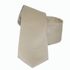 NM slim szatén nyakkendő - Drapp szövött