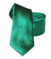 NM slim szatén nyakkendő - Fűzöld Egyszínű nyakkendő