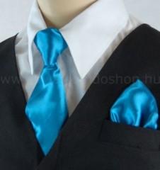Gyerek nyakkendő szett - Türkízkék Szettek