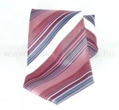 Classic prémium nyakkendő - Lazac-fehér csíkos Csíkos nyakkendő