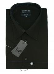 Goldenland slim rövidujjú ing - Fekete Rövidujjú ing