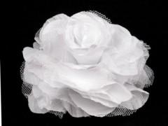 Rózsa kitűző - Fehér Női kiegészítők