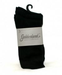 Goldenland 3 db öltönyzokni - Fekete Férfi zokni, pizsama