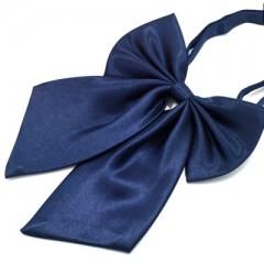 Szatén női csokornyakkendő - Sötétkék Női nyakkendők, csokornyakkendő