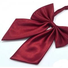 Szatén női csokornyakkendő - Bordó Női nyakkendők, csokornyakkendő