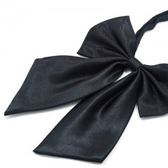 Szatén női csokornyakkendő - Fekete Női nyakkendők, csokornyakkendő