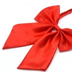 Szatén női csokornyakkendő - Piros Női nyakkendők, csokornyakkendő