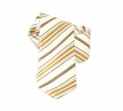 Classic prémium nyakkendő - Drapp-arany csíkos Csíkos nyakkendő