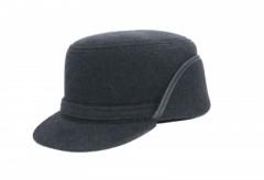 Férfi gyapjú füles kalap - Grafit Férfi kalap, sapka