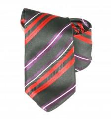 Classic prémium nyakkendő - Fekete-piros csíkos Csíkos nyakkendő