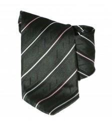 Classic prémium nyakkendő - Fekete-fehér csíkos Csíkos nyakkendő