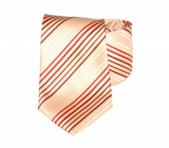 Classic prémium nyakkendő - Barack-piros csíkos Csíkos nyakkendő