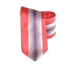 Classic prémium nyakkendő - Piros-lila csíkos Csíkos nyakkendő