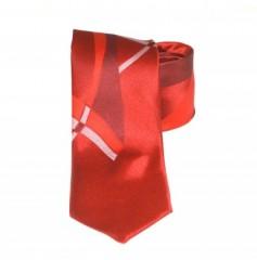 Classic prémium nyakkendő - Piros mintás Mintás nyakkendők