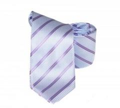 Classic prémium nyakkendő - Kék-lila csíkos Csíkos nyakkendő