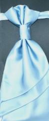 Francia nyakkendő,díszzsebkendővel - Égszínkék Szettek