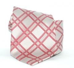G.L selyemnyakkendő  - Ezüst kockás Kockás nyakkendők
