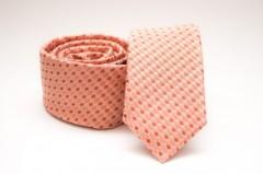 Prémium slim nyakkendő -   Barack mintás Kockás nyakkendők