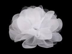 Szifon virág - Fehér Kitűzők, Brossok