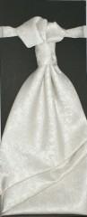 Francia nyakkendő,díszzsebkendővel - Ecru mintás Szettek