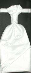 Francia nyakkendő,díszzsebkendővel - Fehér mintás Francia, Ascot, Különlegesség