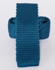 Prémium kötött nyakkendő - Acélkék Kötött nyakkendők