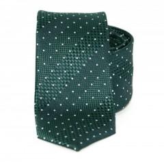 Goldenland slim nyakkendő - Zöld pöttyös